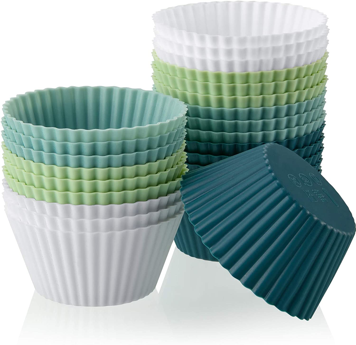 Silicone Baking Cups Max sold out 82% OFF Cupcake Liners Muffin Reusable Cup