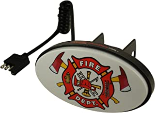 Hitch Starz - Illuminate Your Attitude. The Original Changeable Hitch Cover. (Fire Department) Universal fit 1.25