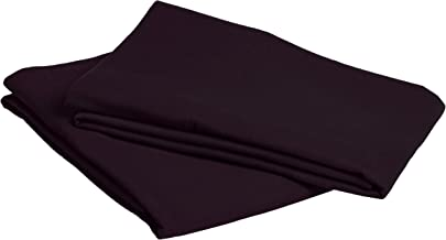 Pinzon Signature Cotton Heavyweight Velvet Flannel Pillow Cases - Standard, Aubergine