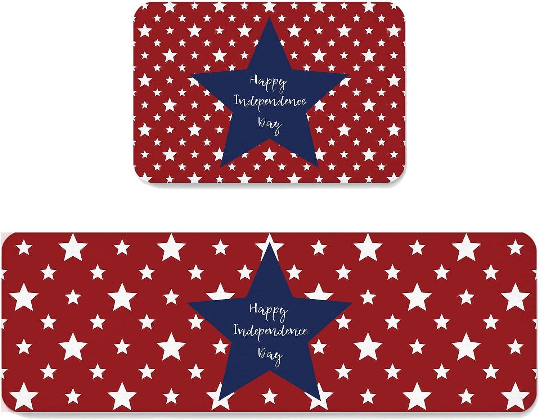 2 Pieces Kitchen Mats Floor Popular Area Happy Non-Slip Limited price Set Doormat Rug
