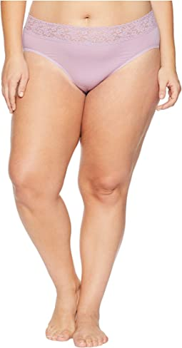 Plus Size Organic Cotton Signature Lace French Brief