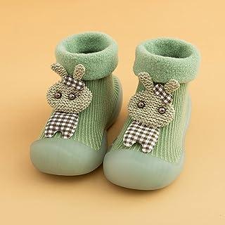 MEITOUNAO Babyschuhe rutschfeste Sohle, Kinder Anti Rutsch Socken Schuhe 6-12monate Mädchen Kleinkind Schuhe Jungen Laufle...