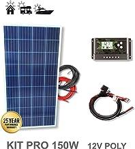 VIASOLAR Kit 150W Pro 12V Panel Solar policristalino
