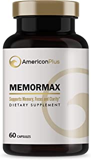 Memormax Brain Supplement for Memory, Focus & Mental Clarity with Ginkgo Biloba, Bacopa, Alpha GPC, DMAE, Phosphatidylseri...