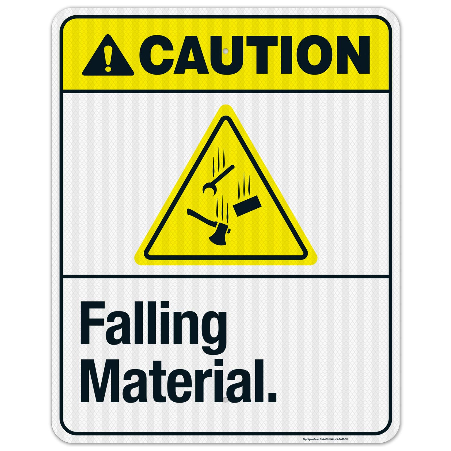 Falling Material Sign ANSI Caution 3M R EGP Max 70% OFF Max 50% OFF Inches 24x30