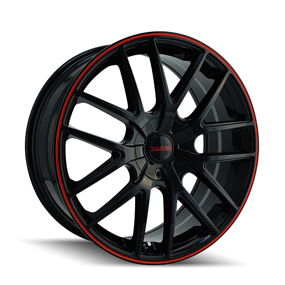 Touren TR60 3260 Wheel with Black Finish with Red Ring (17x7.5