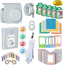 The Ultimate Accessories Kit Bundle for Fujifilm Instax Mini 9 Instant Film Camera   Includes Leather Camera Case + 100 Sheets of Instant Film + Photo Album + Frames + Close-Up Selfie Lenses + More