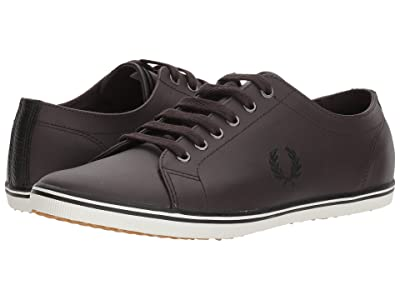 Fred Perry Kingston Leather (Dark Chocolate/Black/Porcelain) Men