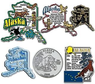 Six-Piece State Magnet Set - Alaska