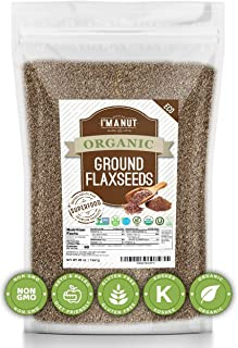 Sponsored Ad - Organic Flax seeds Ground Brown (48oz) Value Size | Superior to Organic | Batch tested Gluten Free | Keto &...