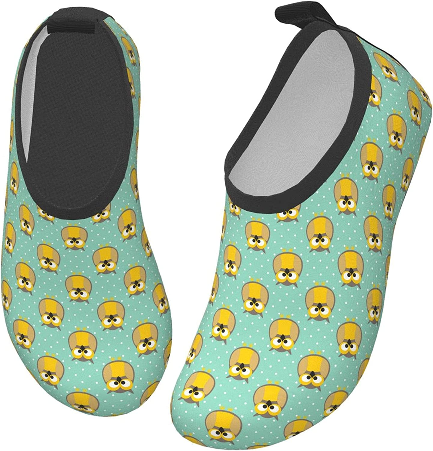 Yellow Halloween Animal Autumn Owl Children's Water Shoes Feel Barefoot for Swimming Beach Boating Surfing Yoga