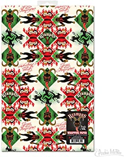 Archie McPhee Krampus Wrapping Paper