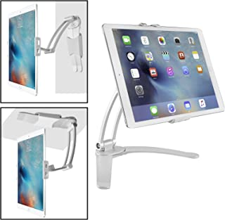 Luxitude 2-in-1 Tablet & Phone Holder/Stand, Nintendo Switch, E-Readers & Tablets, Permanent or Temporary Mounting for with Two Mounting Brackets