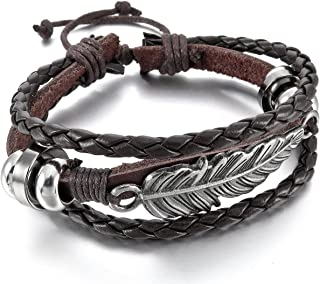 acheter en ligne 4aefc 7cfb0 Amazon.fr : bracelet homme indien - Cuir : Bijoux