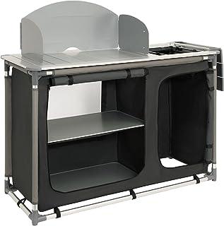 Armario para cocina de acampada con estructura de aluminio protección contra salpicaduras y lavabo de CampFeuer aprox. 1...
