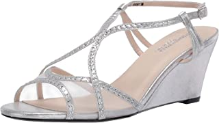 Touch Ups womens Elodie Heeled Sandal, Silver, 8 US