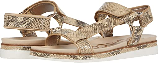 Wheat Multi/Summer Sand Exotic Snake Print Leather/Bally Premium