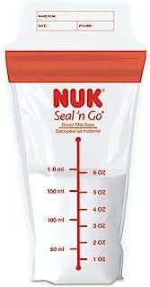 NUK Seal N Go Breast Milk Bags, 100 Count