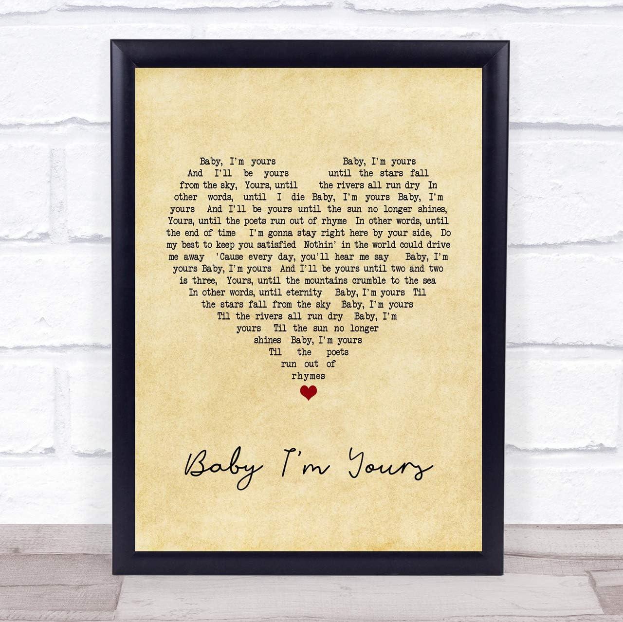 "Custom Song Lyrics Typrography Print Poster Artwork 5/"" x 7/"" Home Decor NO FRAME"
