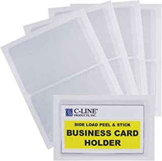 C-Line Self-Adhesive Business Card Holders, Side Loading, 2