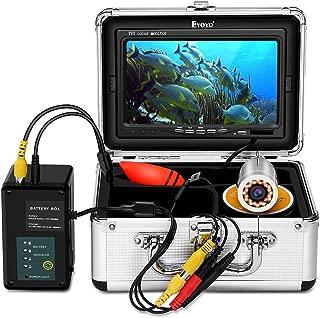 Eyoyo Underwater Fishing Camera Video Fish Finder 7 Inch Screen HD 1000 TVL Waterproof Camera w/Infrared & Yellow Lights for Ice Lake Sea Night Fishing 30m (98ft) Cable