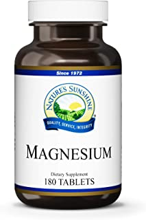 Nature's Sunshine Magnesium, 250mg, 180 Tablets | Supports Both The Nervous and Structural Systems by Helping Muscles Relax and Maximize Energy Production