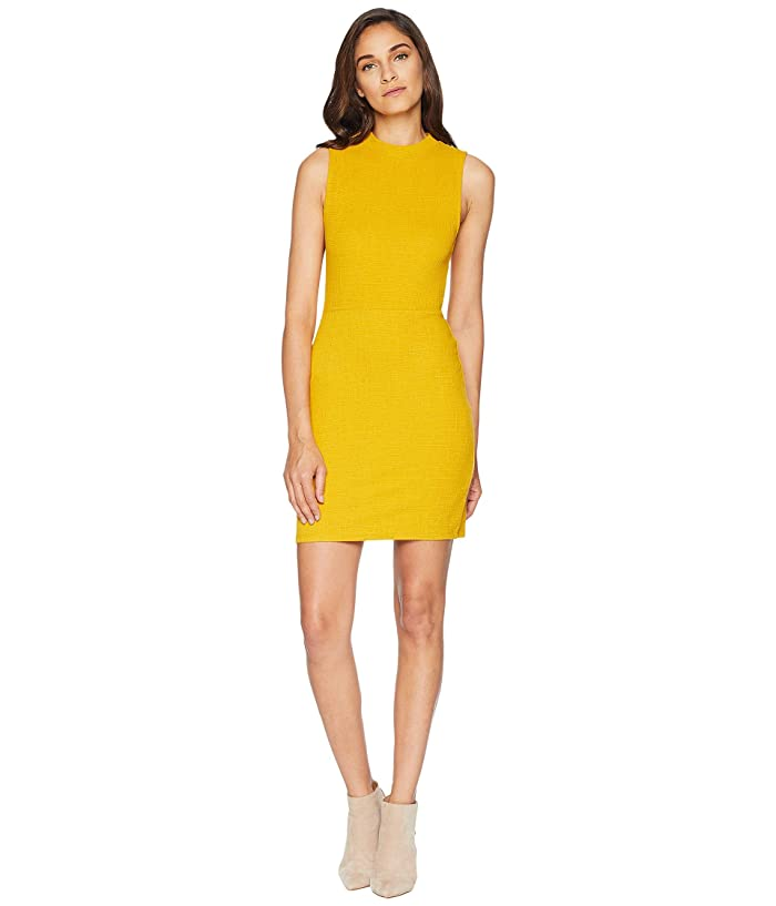 Jack by BB Dakota Honey Ryder Knit Jacquard Bodycon Dress (Marigold) Women