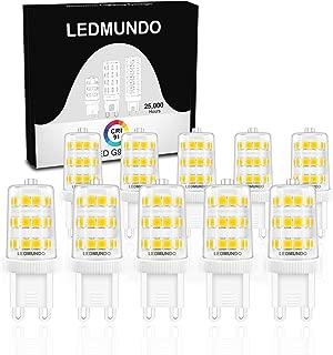 High CRI 90+ G9 LED Light Bulb: Pack of 10, Flicker-Free, 3.5W, Halogen Bulbs 40W, 360LM Daylight White 5000K, 360 Degree Omni Beam Angle 120V AC, ETL Listed, LED Light Bulbs Halogen Replacement Bulbs