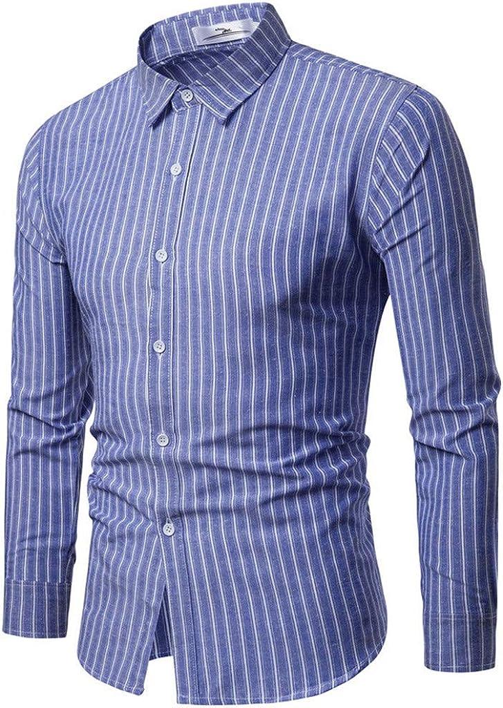 MODOQO Men's Slim Fit Plaid Button Down Dress Shirt for Autumn