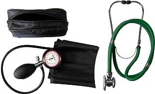 Tiga-Med - Tensiómetro de brazo (1 tubo, estetoscopio de doble manguera, color verde)