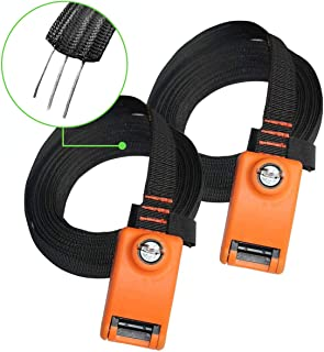 Lovinouse 2021 Upgraded 2 Pack Lockable Tie Down Strap, with 3 Stainless Steel Cables, for Lashing Locking Kayak, Bike, Su...