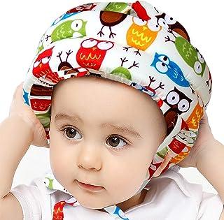 IULONEE - Casco de seguridad para niños pequeños, con protección ajustable, para correr, caminar, gatear, casco de segurid...