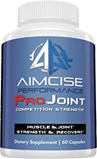 Aimcise Performance ProJoint Supplement with Glucosamine and Turmeric | Powerful Pain Muscle and Joint Recovery, Promotes Speed, Helps Back Pain Knees Hands Inflammatory - 60 Day Supply
