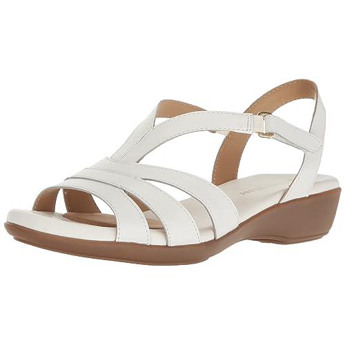 78e01f005f009 Women's White Comfort Sandals: Amazon.com