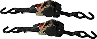 Reese Carry Power 9425500 Black 6' Retractable Ratchet Tie Down - 2 Piece