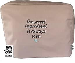 Cozycoverup - Funda para mezclador de alimentos Kenwood en Secret Love (Chef de cocina KM096 KM083 KCC9060S, color gris pardo)