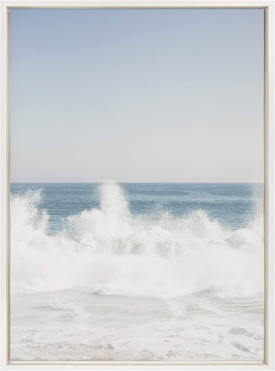 Kate and Topics on TV Laurel Sylvie Waves Crashing Canvas Safety trust Framed by Wall Art