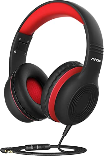 Mpow CH6S Kids Headphones with Microphone Over Ear, On Ear Headphones for Kids with HD Sound Sharing Function for Chi...