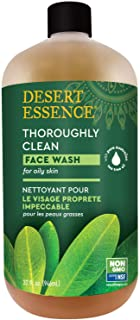 Desert Essence Thoroughly Clean Face Wash - Original - 32 Fl Oz - Tea Tree Oil - For Soft Radiant Skin - Gentle Cleanser -...