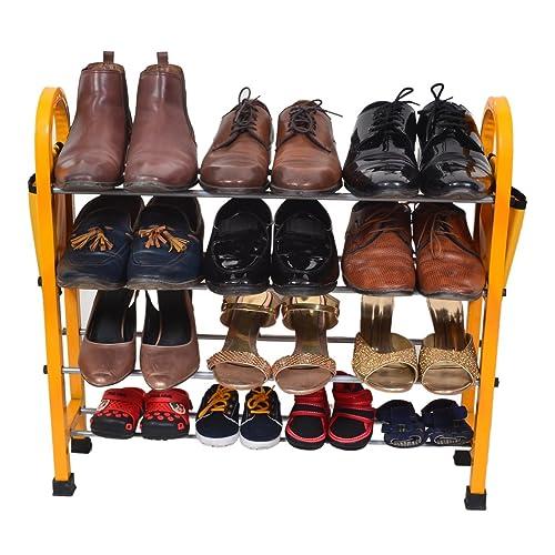 PRO365 12 Pair Economical Metal Shoe Rack - 4 Layers