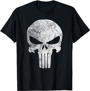 Marvel Punisher Skull Symbol Distressed T-Shirt