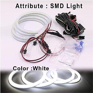 131MM LED Multicolori LED Angel Eyes 5050 RGB Flash per fari Flash per BMW E46 MuChangZi 1 Set 4