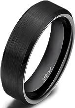 black ceramic tungsten rings