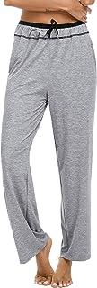 Sykooria Pantaloni Pigiama Donna Lunghi Cotone Casa Pantaloni Lunghi Pigiama con Coulisse, Pantaloni Sportivi da Donna