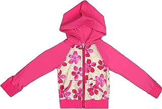 Floatimini Little Girls Spanish Tile Hooded Zip up Rash Guard