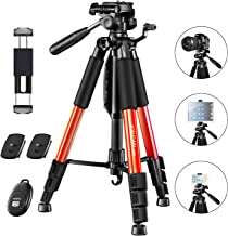 "JOILCAN 65""Camera Tripod for Canon Nikon Lightweight Aluminum Travel DSLR Camera Stand 11 lbs Load with Universal Phone/Ta..."
