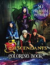 Descendants Coloring Book: Great Coloring Book for Kids and Fans – 100 GIANT Pages to Coloring - 50 High Quality Images