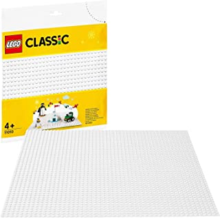 LEGO Classic La plaque de base blanche 25 cm x 25 cm pour la base de construction des ensembles d'hiver, 80 pièces, 11010