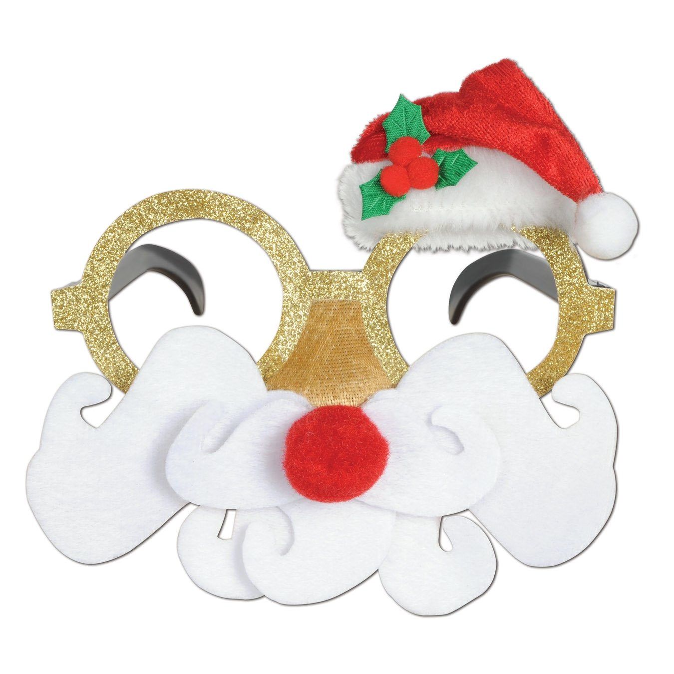 Beistle 1-Pack Glittered Santa Glasses by The Beistle Company: Amazon.es: Juguetes y juegos