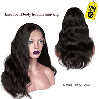 Body Lace Front Wigs Human Hair with Baby Hair Pre Plucked Natural Hairline Wigs Showjarlly 150% Density Virgin Hair Wigs Natural Black Hair Weave 10inch